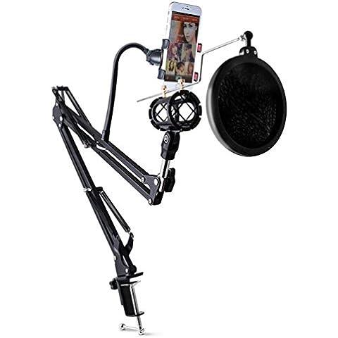 Registrazione professionale regolabile microfono sospensione Boom Scissor