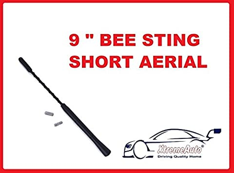 XtremeAuto Black Replacement Alloy Car Radio Antenna Aerial Mast