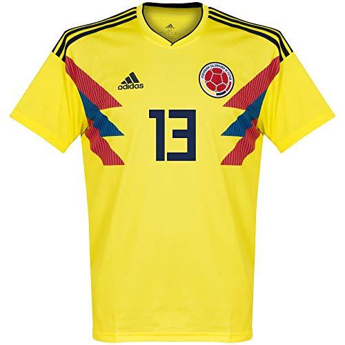 Player Print - adidas Performance Kolumbien Home Trikot 2018 2019 + Y.Mina 13 - S - Kolumbien Fußball Adidas