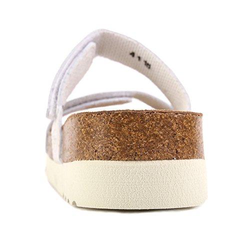 Scholl Lusaka White Leather Beige
