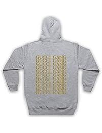 bdb8cdbf66a8 Inspired Apparel Inspire par Lil Pump Gucci Gang Gold Print Officieux Sweat  a Capuche avec Un