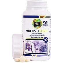 Complejo multivitamínico con vitamina C, E, B6, A, D3 y coenzima Q10
