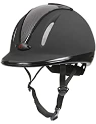 Covalliero Riding Helmet Carbonic VG1Anthracite, Unisex, Helm Reithelm Carbonic VG1