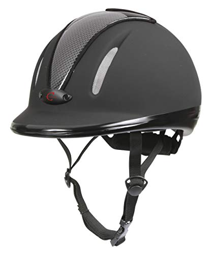Covalliero Kinder Helm Reithelm Carbonic VG1 Anthrazit 50-54 cm