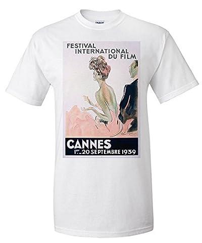 Cannes - Festival International du Film - 1939 Vintage Poster (artist: Domergue) France c. 1939 (Premium T-Shirt)