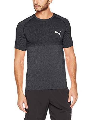 Puma Herren Evoknit Basic Tee Shirt Cotton Black