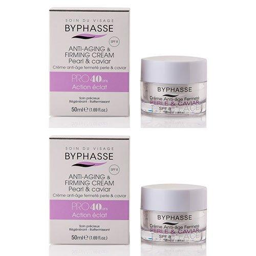 Byphasse LOT DE 2 - Crème anti-âge PRO40 ans Perle/Caviar - 50 ml - Peaux matures