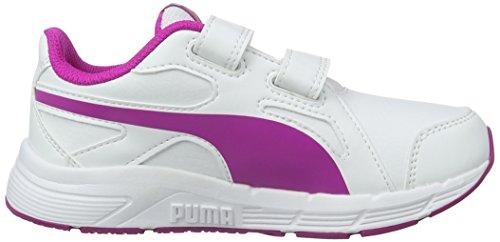 Puma Axis V4 Sl V Ps, Scarpe da Ginnastica Basse Unisex – Bambini Bianco (Puma White-ultra Magenta 14)