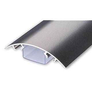 TV Design Aluminium Kabelkanal Titanium anthrazit seidenmatt lackiert in verschiedenen Längen von ALUNOVO (Länge: 30cm)