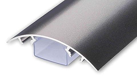 TV Design Aluminium Kabelkanal Titanium anthrazit seidenmatt lackiert in verschiedenen Längen von ALUNOVO (Länge: (Kabelkanal Für Tv)