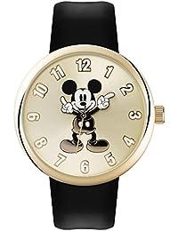 Mickey Mouse Reloj Analógico de Cuarzo Unisex con Correa de Pu – MK1443