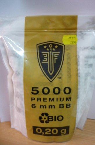 ELITE FORCE PREMIUM BIO BB Softairkugeln weiß 6mm 0,20g 5000 BBs (Elite Bb)