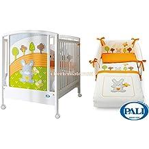 Lettino Pali Smart Bosco + Set tessile Arancio sfilabile