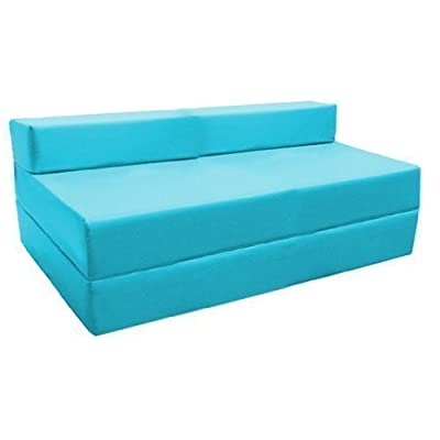 Ready Steady Bed Fold-Out Water Resistant Z Bed Sofa, Turquoise