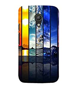 For Motorola Moto G2 :: Motorola Moto G (2nd Gen) rainbow pattern, pattern, rainbow, black backgound Designer Printed High Quality Smooth Matte Protective Mobile Case Back Pouch Cover by APEX
