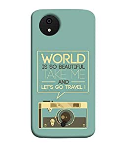 Snapdilla Designer Back Case Cover for Micromax Canvas Android A1 AQ4501 :: Micromax Canvas Android A1 (Graphic Backcover Wallpaper Tourism Concept Business Proverb Type)