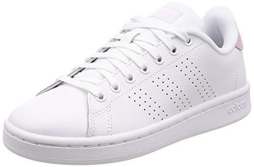 Adidas Advantage, Zapatillas de Deporte para Mujer, Blanco Ftwbla/Ftwbla/Grasua 000, 38 EU