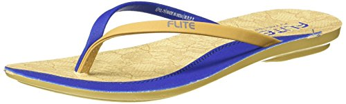 FLITE Women's Blue Beige Slippers - 7 UK/India (40.67 EU)(PUL070L)