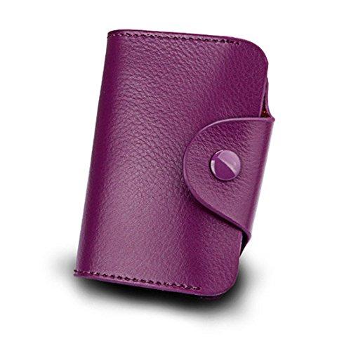 SanSiDo RFID Funda de carnés tarjetero para tarjeta de crédito y tarjeta de visita en varios colores (purple)