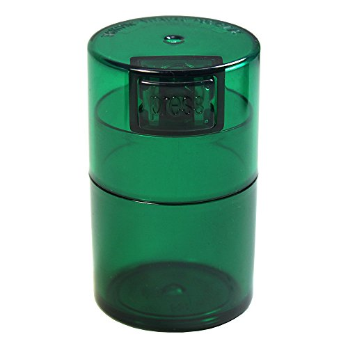 Sealed Tube (Tightvac Vitavac-Pocketvac Vacuum Sealed Pill Box & Vitamin Container, 1/2-Ounce/ 06. Liter, Emerald Tinted Body/Cap)
