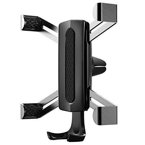 Alquar Handyhalterung Auto Handy Halterung KFZ Lüftung Halter Auto Lüftungsschlitze, intelligente Schwerkraft, geeignet für iPhone X/8/8 Plus/7/7 Plus/6/6s plus,Samsung Galaxy S8/note8,und weitere