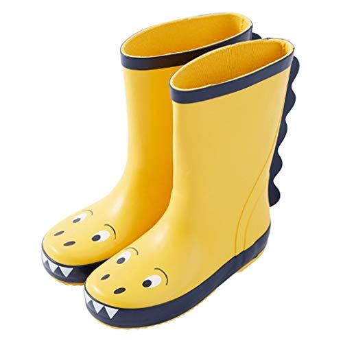 YangMi Regenstiefel Mode wenig Dinosaurier rutschfeste Kinder Regen Stiefel, Outdoor Vier Jahreszeiten universal wasserdichte Gummi Regen Stiefel