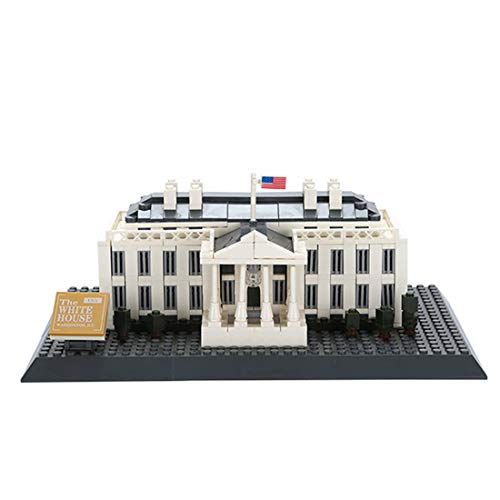 K9CK Architektur Modell-Set, 3D Puzzle Washington White House Bausteine Architektur Spielzeug Kinder und Erwachsene Kreative Modell Kit für Puzzle-Liebhaber, 803 Teile