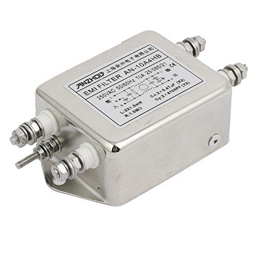 sourcing map AN-10A4HB AC 250V 10A einphasig Rauschunterdrückung Stromleitung EMV Filter DE de