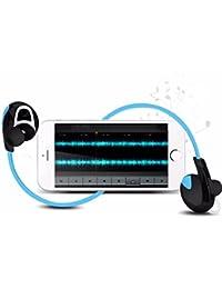 Webla Auricular impermeable Bluetooth 4.1 Universal gancho de oído inalámbrico deportes jogging auricular estéreo para iPhone iPod iPad Samsung Galaxy y más (Azul)