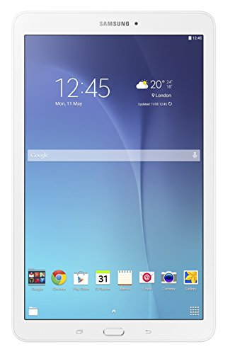 Samsung SM-T560NZWABTU Galaxy Tab E 9.6 Inch Wi-Fi Tablet, (White), (Intel Quad-Core 1.3 GHz, 1.5 GB RAM, 8 GB ROM, Android 4.4), UK/EU Version