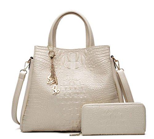 Einfache Art- Und Weisemutter-Beutel-Handtaschen-Dame-Schulter-Diagonalpaket-Paket Einfache Bunte Taschen-Beutel-Einkaufstasche White