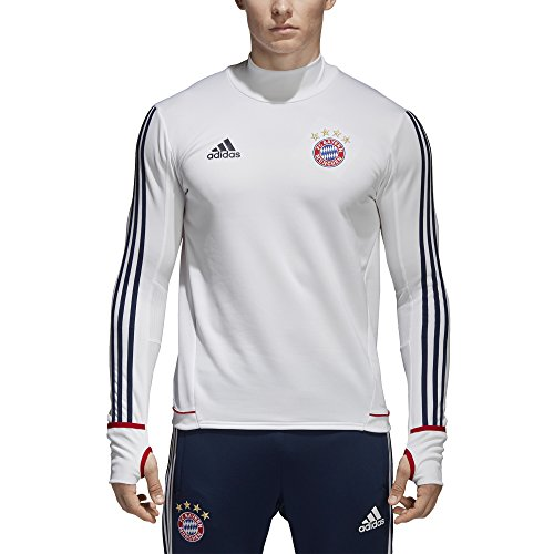 adidas Herren Bayern München Shirt weiß / dunkelblau