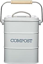 Kitchen Craft Lncompgry Living Nostalgia Roestvrijstalen Compostemmer, 3 Liter, French Grey