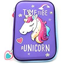 FunBlast Multipurpose Zipper Pencil Case, Pen & Pencil Pouch Bag Case for School Supplies for Kids (Unicorn_Pouch)