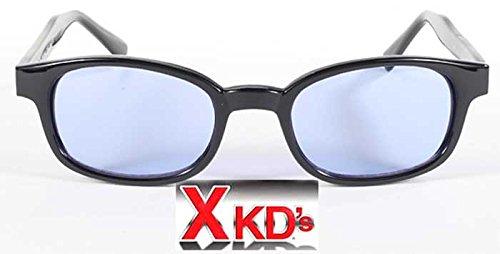 KD Glasses X-Kd Sonnenbrille 1012 Schwarzes Feld mit Objektiv One size Blau