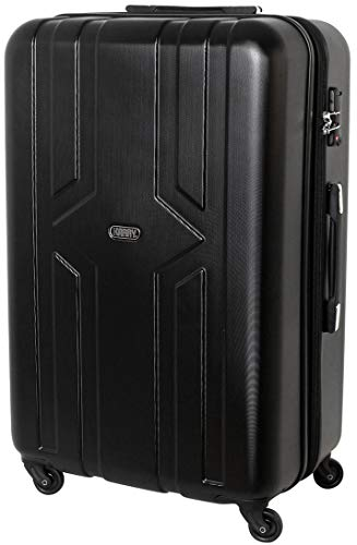 233080a57 Karry Trolly Coquille dure Valise Trolley Voyage TSA Black Castle 821 -  Valise XXL Coque dure