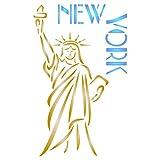 New York–Pochoir réutilisable américain Statue de la Liberté Thème City...