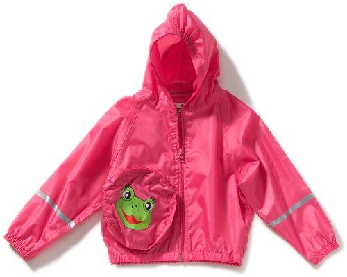 Playshoes Unisex - Baby Regenbekleidung Regenjacke Frosch von Playshoes - im Beutel um den Bauch tragbar, 408639, Gr. 80, Pink (18 pink)