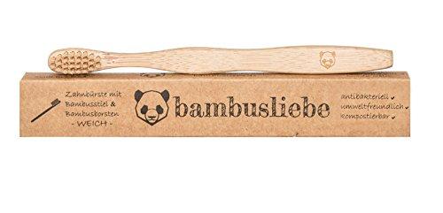 ✮ bambusliebe ✮ 3er Pack Bambus Zahnbürste für Kinder ♻ weiche Bambus-Viskose Borsten ♻ Nachhaltig ✅ Vegan ✅ Kompostierbar ✅ Antibakteriell ✅ BPA-frei ✅ - 3