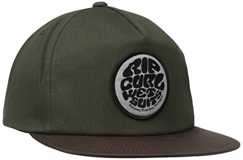 48998f5a8e8 Rip curl 9348282331995 Mens Wettie Snapback Hat Military Green One Size-  Price in India