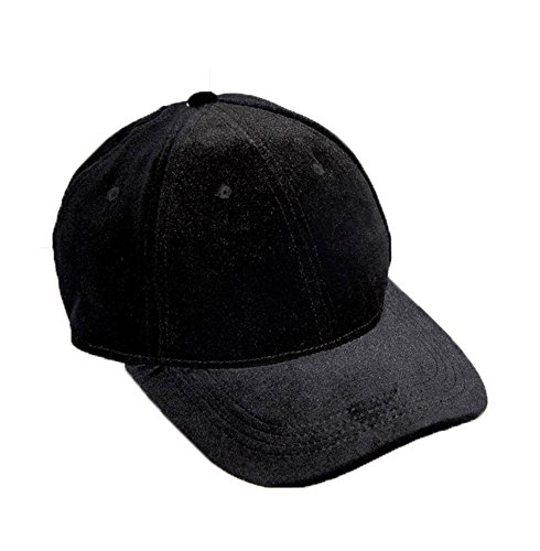 KGM Accessories Wirklich Nice Schwarz Samt Baseball Gap – Trendy Celebrity Samt Hat – Hollywood Party verschleißresistent London Night Life