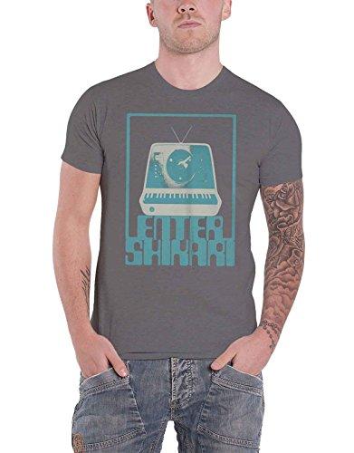 Enter Shikari T Shirt Synth Square Band Logo Nue offiziell Herren Grau