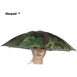Sombrero paraguas Tiswell de 66 cm de diámetro, elástico, para pescar, jardinería, fotografía, senderismo, camouflage