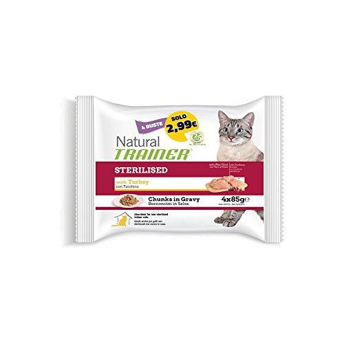 TRAINER Trainer Natural Cat Flow Ster.Tacchino GR. 85 X 4 Cibo Umido Per Gatti