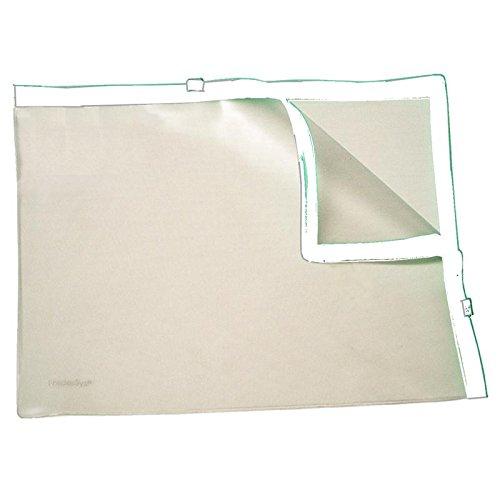 Klarsicht-Sammelbeutel für A4, mit 2 Plastik-Zips, PVC, Zipp weiss, 10 Stück