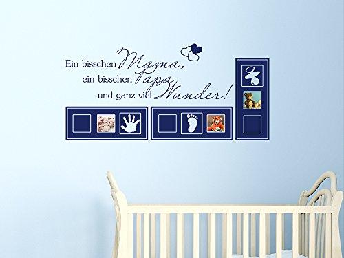 7_049 Wandtattoo Fotorahmen Bilderrahmen Mama Papa Wunder Deko fr Kinderzimmer (Gre=120x57cm//Farbe=049 knigsblau) (Wunder Bilderrahmen)