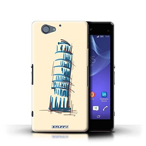 Kobalt® Imprimé Etui / Coque pour Sony Xperia A2 / Taj Mahal/Indie conception / Série Monuments La Tour penchée de Pise