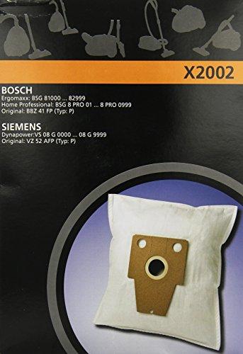 Electrolux X2002 X-Range 4 Staubbeutel Synthetik für Siemens VS08, Bosch BSG8