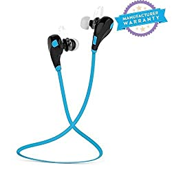 Bluetooth 4.1 Wireless Stereo In-Ear Headphones ,Hands-Free Calling For All Android & Iphone Smartphones(Black/Blue)