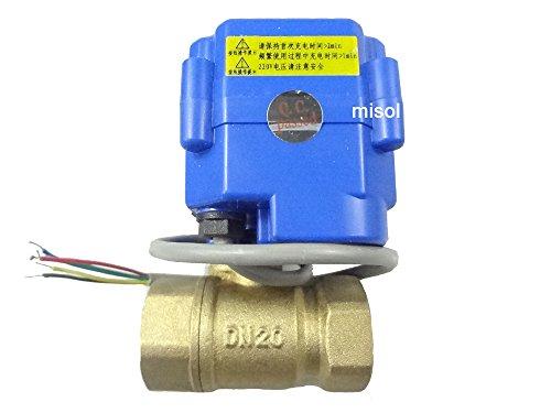 MISOL 1 pcs of motorized valve brass, G3/4